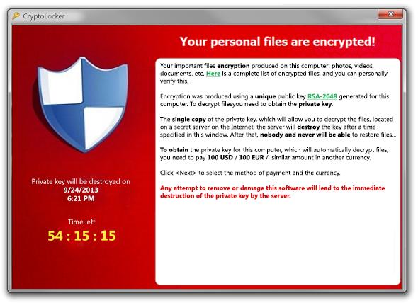 Come proteggersi da Cryptolocker