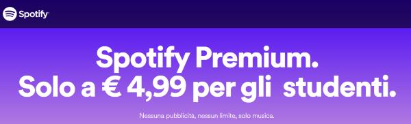 Spotify Studente